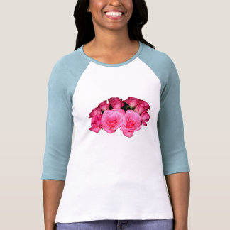 Bouquet of pink roses shirts