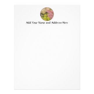 Bouquet of pink, yellow & peach roses custom letterhead