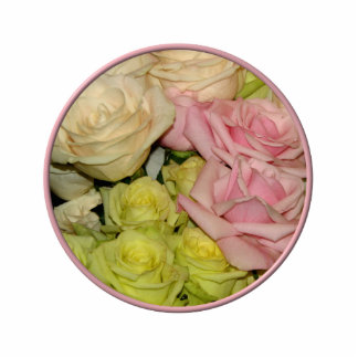 Bouquet of pink, yellow & peach roses acrylic cut out