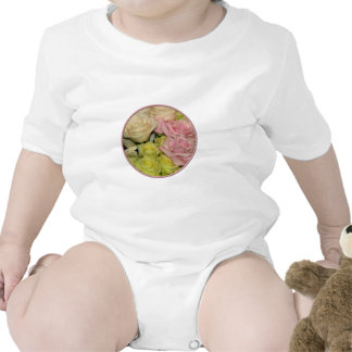 Bouquet of pink, yellow & peach roses t-shirt