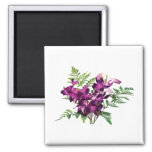 Bouquet of Purple Orchids With Ferns Refrigerator Magnets