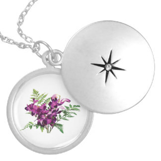 Bouquet of Purple Orchids With Ferns Pendant