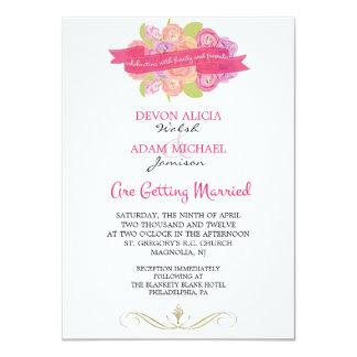 Bouquet of Ranunculus Wedding Invitation