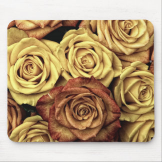 Bouquet of Red and White Roses in Full Bloom Mouse Pad