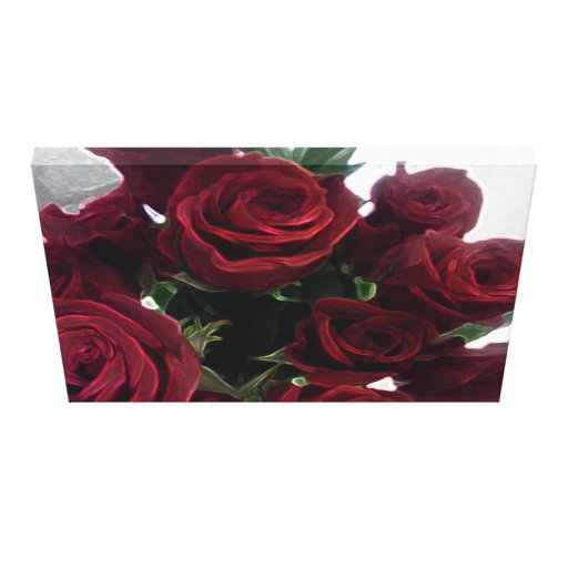 BOUQUET OF RED ROSES GALLERY WRAPPED CANVAS