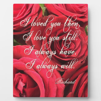 Bouquet of Red Roses Love Personalized Plaque