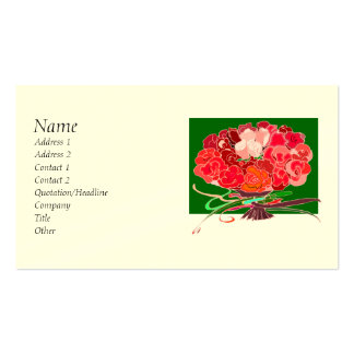 Bouquet of Roses Business Cards