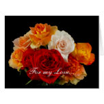 Bouquet of Roses For Love Valentine's Day Greeting Card
