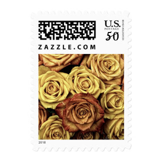 Bouquet of Roses in Full Bloom Postage