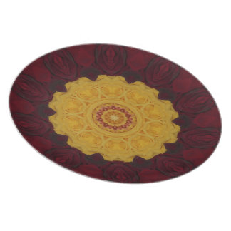 Bouquet Of Roses Kaleidoscope Plate