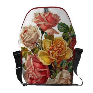 Bouquet of Roses Messenger Bag