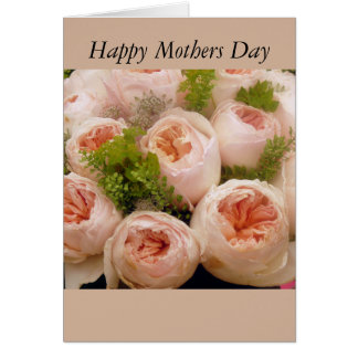 Bouquet Of Roses Mothers Day Card Greeting Card