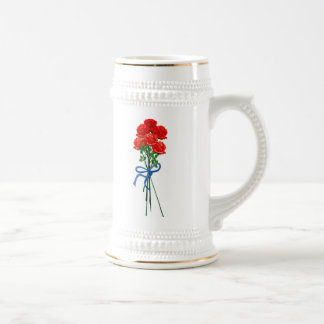 Bouquet of Roses 18 Oz Beer Stein