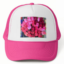 bouquet of roses pink hat