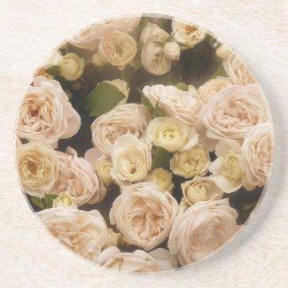 Bouquet of  Roses Sandstone Coaster