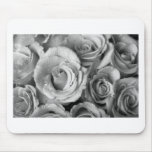 Bouquet of Roses with Water Drops in Black and Whi Mousepad
