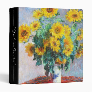 Bouquet of Sunflowers, 1880 Claude Monet 3 Ring Binder