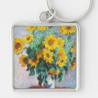 Bouquet of Sunflowers, 1880 Claude Monet Keychain