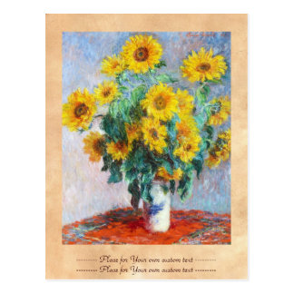 Bouquet of Sunflowers, 1880 Claude Monet Postcard