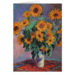 Bouquet of Sunflowers by Claude Monet Greeting Cards