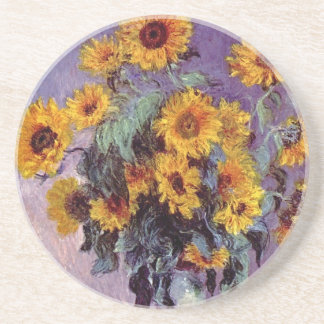 Bouquet of Sunflowers by Claude Monet Coaster