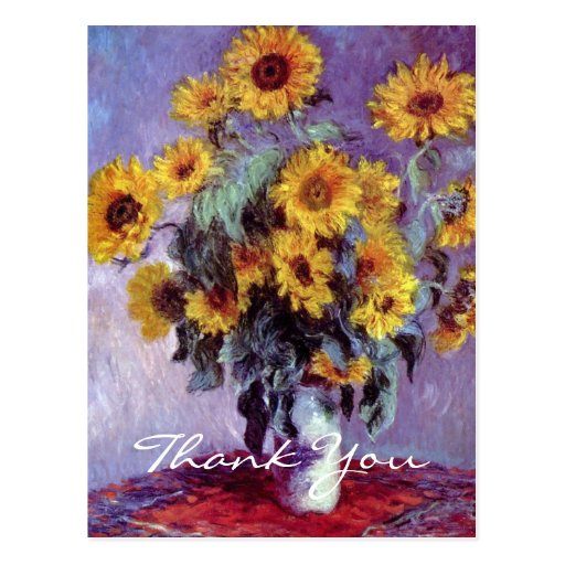 Bouquet of Sunflowers by Claude Monet Postcard