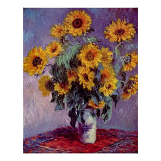 Bouquet of Sunflowers by Claude Monet Posters
