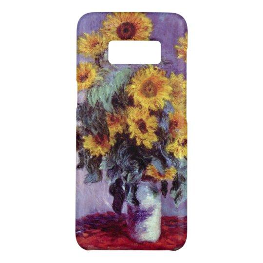 Bouquet of Sunflowers by Claude Monet, Vintage Art Case-Mate Samsung Galaxy S8 Case