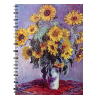 Bouquet of Sunflowers by Claude Monet, Vintage Art Notebook