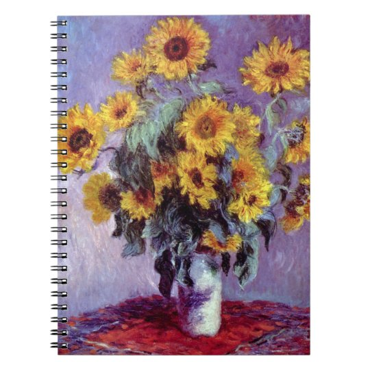 Bouquet of Sunflowers by Claude Monet, Vintage Art Notebook