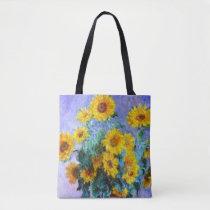 Bouquet of Sunflowers Claude Monet Fine Art Tote Bag
