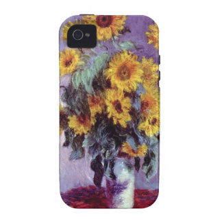 Bouquet of Sunflowers, Monet, Vintage Flowers Art iPhone 4/4S Covers