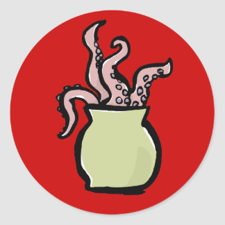 bouquet of tentacles classic round sticker