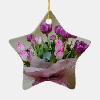 Bouquet of Tulips Ceramic Ornament