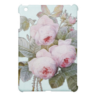 Bouquet of Vintage Victorian English Roses on Blue iPad Mini Cover