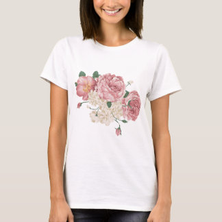 Bouquet of White and Pink Roses T-Shirt