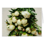 Bouquet of White Peony Buds Notecard Greeting Cards