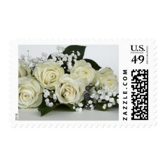 Bouquet of White Wedding Roses Stamp