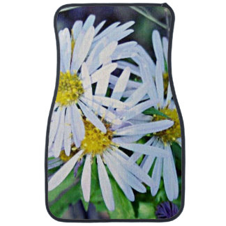 Bouquet of Wild White and Yellow Daisies Floor Mat