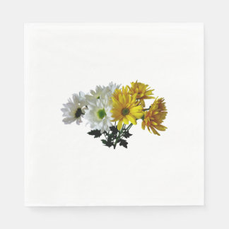 Bouquet Of Yellow and White Daisies Napkin