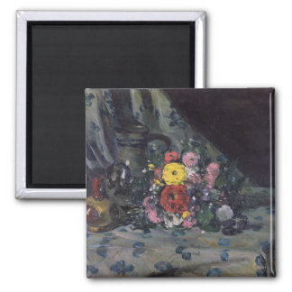 Bouquet of Yellow Dahlias, c.1873 2 Inch Square Magnet