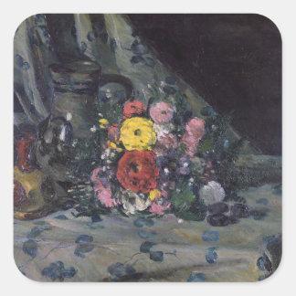 Bouquet of Yellow Dahlias, c.1873 Square Sticker