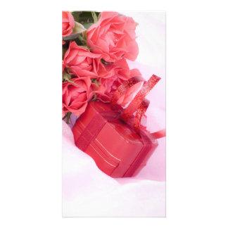 bouquet off pink card