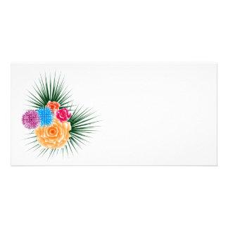 bouquet custom photo card