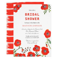Bouquet Poppies | Bridal Shower  | Invitation Card