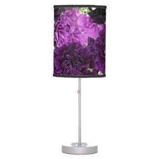 Bouquet Purple Carnations Table Lamp