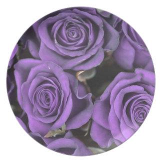 bouquet purple rose roses date rsvp bridal destiny dinner plate