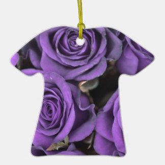 bouquet purple rose roses date rsvp bridal destiny Double-Sided T-Shirt ceramic christmas ornament