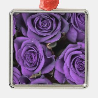 bouquet purple rose roses date rsvp bridal destiny square metal christmas ornament