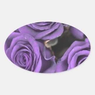 bouquet purple rose roses date rsvp bridal destiny oval sticker